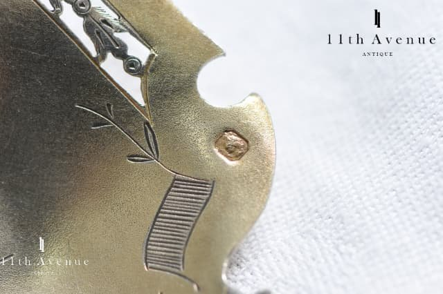 フランス【アンティーク】純銀製ストロベリーサーバースプーン