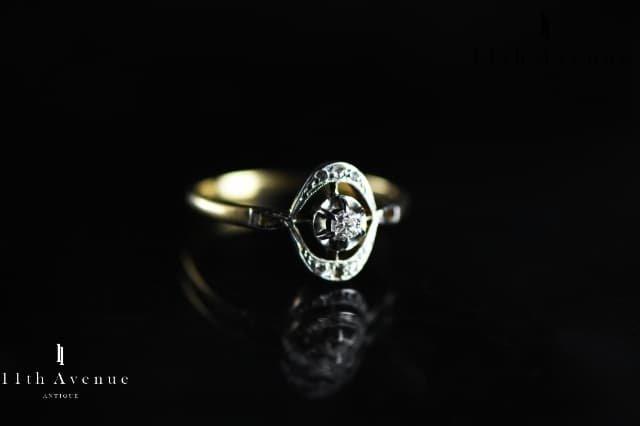 フランス【アンティーク】ダイヤモンド リング(18金)