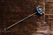 イギリス【アンティーク】ローズカットダイヤモンド ピン 18金&シルバー