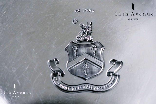 Alstons & Hallam【イギリス】純銀製紋章文トレイ 1906年