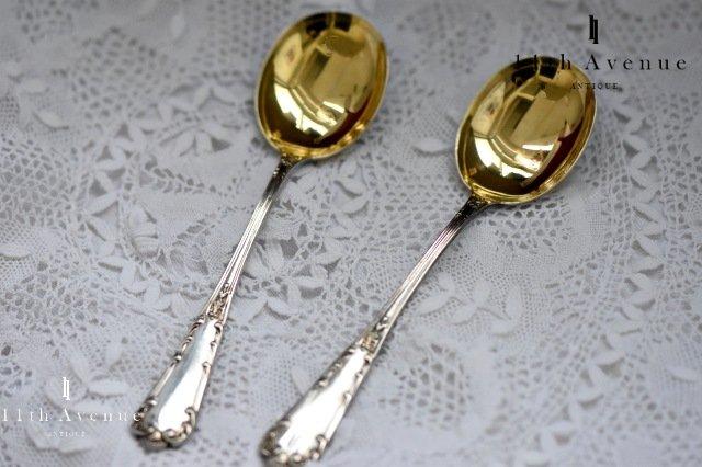 Compere【フランス】ヴェルメイユ装飾アイスクリームスプーン 2本セット