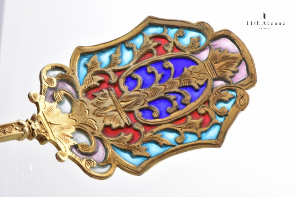 ドイツ【アンティーク】プリカジュール 純銀製デザートサーバーセット