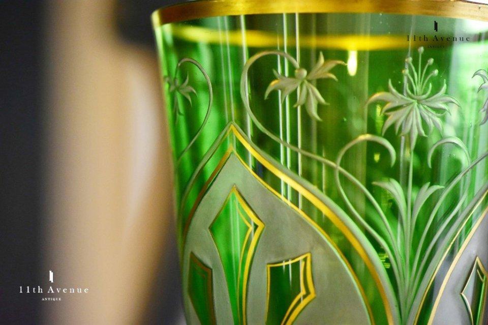 サン・ルイ【フランス】アール・ヌーヴォー 「St-Louis」特注大型ゴブレット 1904年