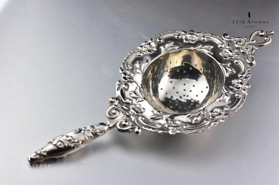 Henry Matthews【イギリス】純銀製ティーストレーナー 1901年
