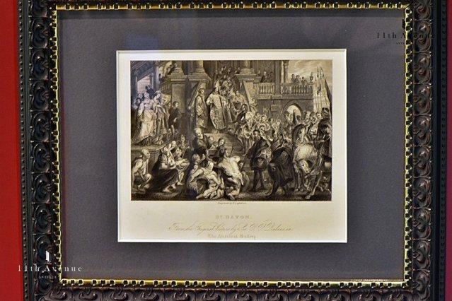 P.Lightfoot【イギリス】ルーベンス『St.BAVON』鋼版画 19世紀