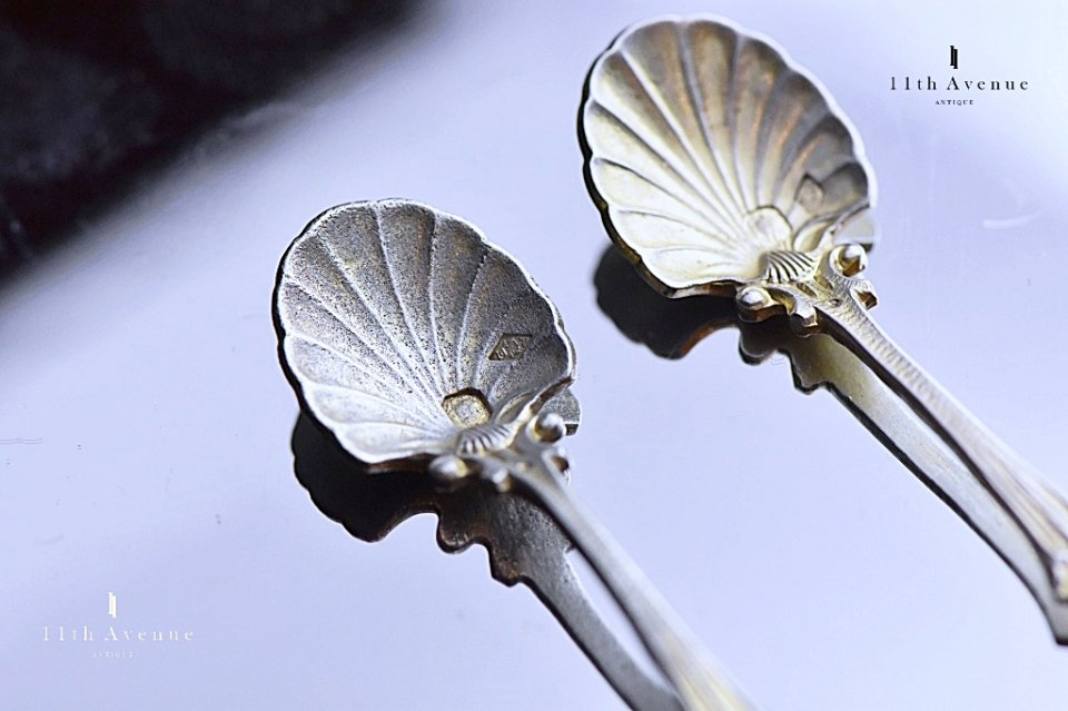 Antoine Eysen【フランス】純銀製ソルトスプーン 2本セット