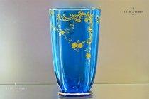 バカラ【フランス】ルイ15世様式 金彩装飾花瓶