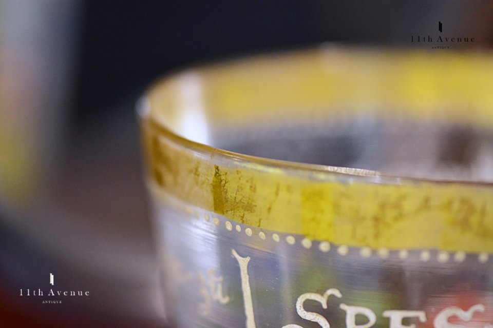 ボヘミア【アンティーク】歴史主義 ザクセン選帝侯紋章文大型ビーカー