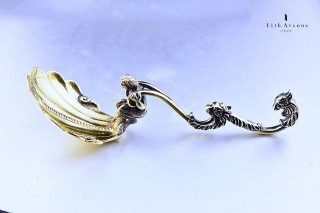 ジョージ・リチャーズ・エルキントン 純銀製ティーキャディースプーン 1860年《G.R. Elkington Silver caddy spoon》