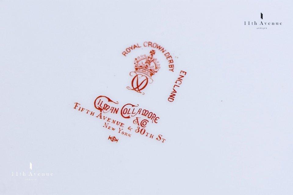 ロイヤルクラウンダービー(イギリス)薔薇文プレート 1900年≪Royal crown derby rose design plate≫