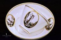 クリストファー・ポッター(フランス)グリザイユ装飾ティーボウル&ソーサー≪Christopher Potter teabowl & saucer≫