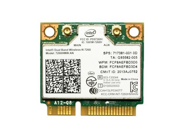 HP純正 717381-001 Intel Dual Band Wireless-N 7260 7260HMWAN 802.11a/b/g/n + BT4.0 無線LANカード