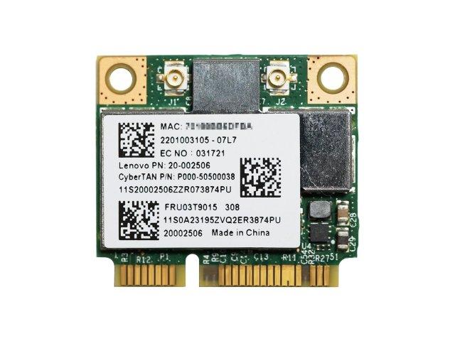 Lenovo純正 03T9015 20002506 BCM943227HM4L BCM43227 802.11b/g/n 300Mbps 無線LANカード