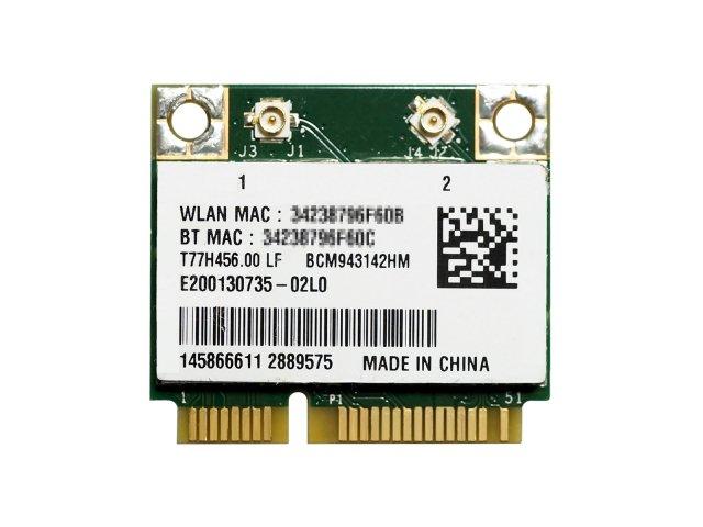 Broadcom BCM943142HM BCM43142 802.11b/g/n WiFi + Bluetooth 4.0 PCIe Mini half 無線LANカード