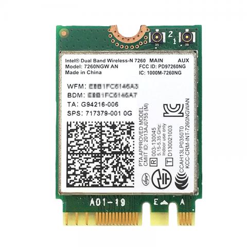 Intel Dual Band Wireless-N 7260 717379-001 7260NGW AN