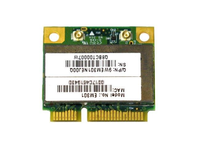 Atheros AR5B91 AR9281 シングルバンド 2.4GHz b/g/n 1x2 MIMO 300Mbps PCIe mini half 無線LANカード