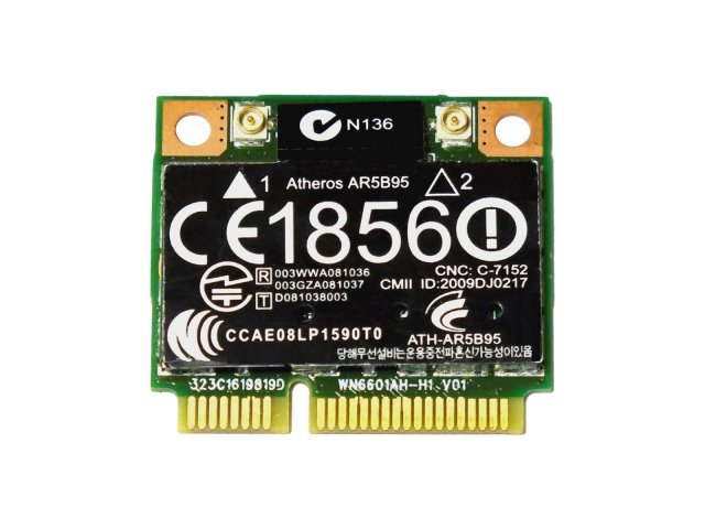 HP純正 580101-002 + 汎用 Atheros AR5B95 AR9285 シングルバンド 2.4GHz b/g/n 150Mbp 無線LANカード