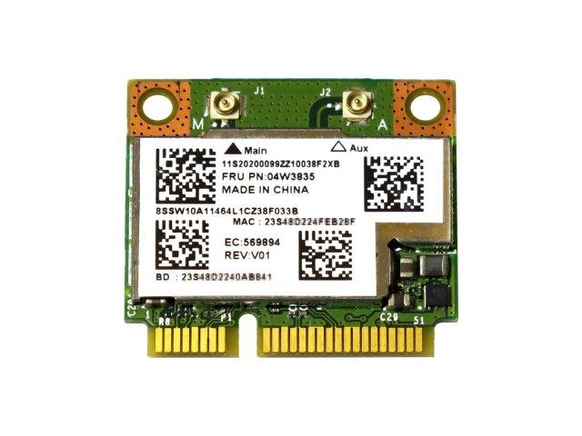 Lenovo純正 04W3834/04W3835 Broadcom BCM943228HMB 802.11a/b/g/n 300Mbps WLAN + Bluetooth 4.0 無線LANカード
