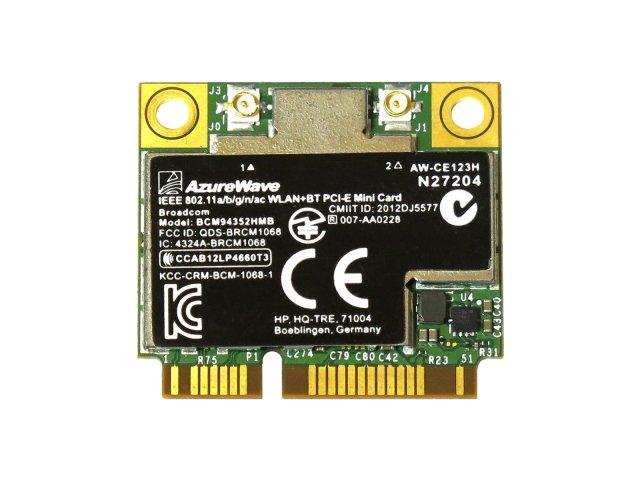 HP純正 724935-001 + 汎用 BCM94352HMB BCM4352 802.11a/b/g/n/ac 867Mbps 2T2R WLAN + Bluetooth 4.0 無線LANカード