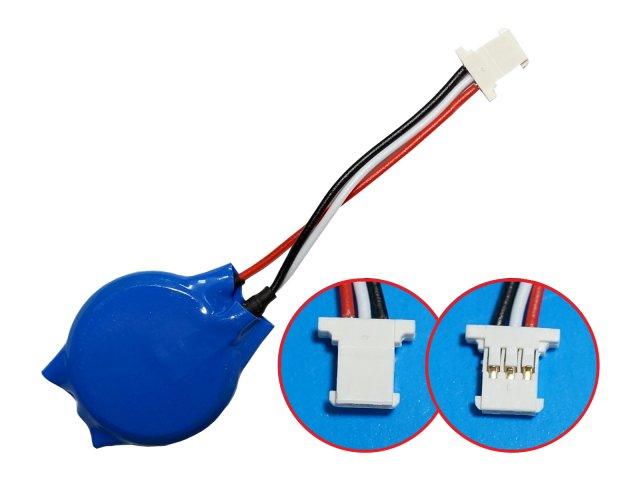 ノートパソコン用 CMOS バッテリー BIOSバックアップ電池 1-Cell 3V(コネクタ3ピン・ケーブル3本タイ…
