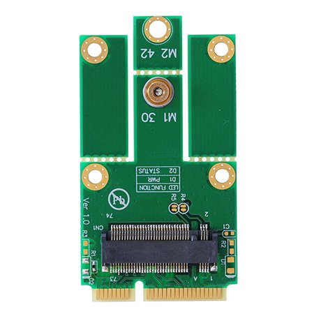 M.2(NGFF)→mini PCI express変換 WiFi+Bluetooth WLAN 無線LANカードなど モジュール用変換アダプタ
