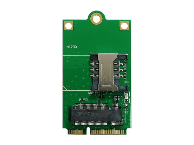 M.2(NGFF) to mini PCI express 3G LTE 4G WWAN ワイヤレスWANモジュール用変換アダプタ 標準simスロッ…