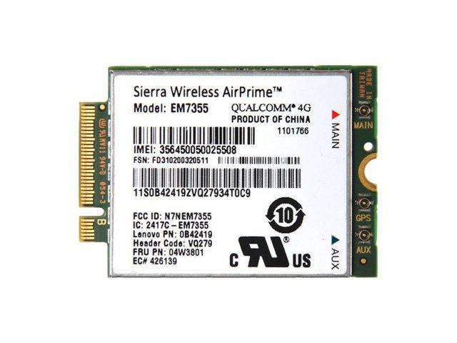 Lenovo純正 Sierra Wireless EM7355 Gobi 5000 LTE/EVDO/HSPA+ M.2 3G 4G ワイヤレスWAN WWANカード 04W38…