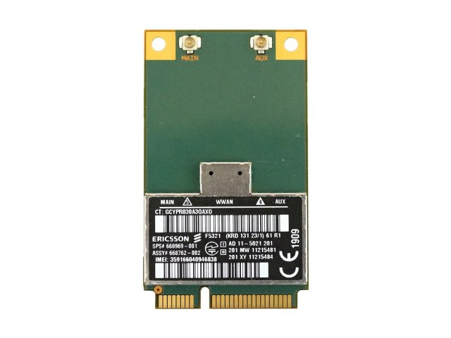 HP純正 668969-001 hs2350 HSPA+ Mobile Broadband Module ERICSSON F5321 F5321gw 3G WWAN ワイヤレスWANモジュールカ…
