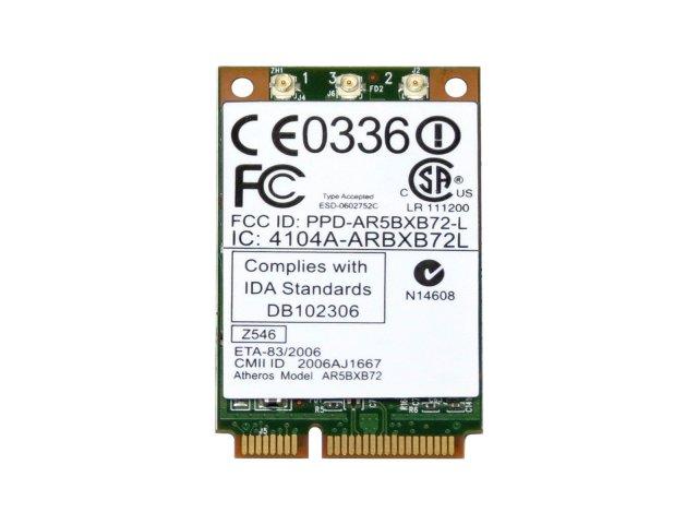 IBM Lenovo 42T0825 Atheros AR5BXB72 802.11a/b/g/n 300Mbps PCIe Mini 無線LANカード