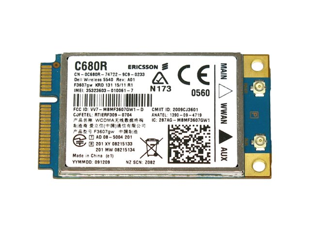 DELL Wireless 5540 HSPA  Mini Card ERICSSON F3607gw 3G GPS WWAN ワイヤレスWANモジュールカード