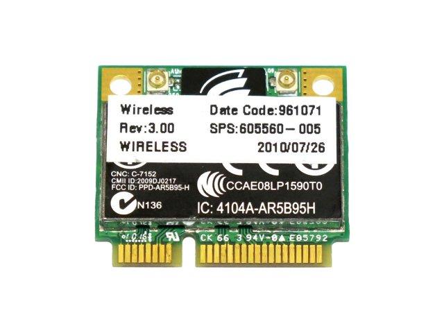 HP純正+汎用 Atheros AR5B95【AR9285チップ】 802.11b/g/n 150Mbps 無線LANカード