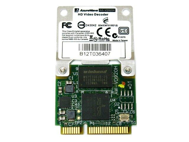 720P/1080P動画再生支援 BroadCom HD動画ハードウェアデコーダ 「BCM70015/BCM970015」/AW-VD920H