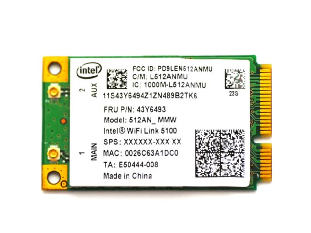 Lenovo純正 43Y6493 インテル Intel Wireless WiFi Link 5100 802.11a/b/g/n 300Mbps PCIe Mini 無線LANカード