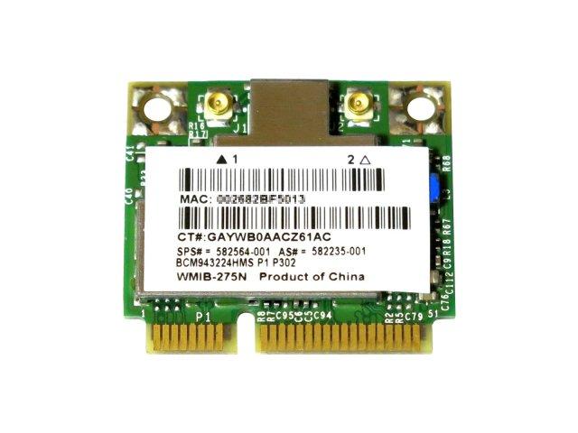 HP純正 582564-001 582564-002 + 汎用 BCM943224HMS BCM43224 2.4GHz/5GHz 802.11a/b/g/n 300Mbps 無線LANカード