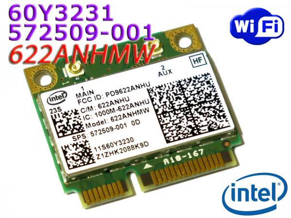 Lenovo/HP純正 Intel Centrino Advanced-N 6200 無線LANカード (FRU:60Y3231 HP SPS:572509-001)
