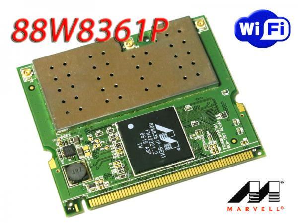 Marvell 88W8361P  最大リンク300Mbps 802.11b/g/n  MiniPCI用無線LANカード