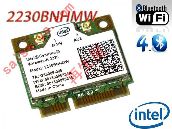 Intel Centrino Wireless-N 2230 (2230BNHMW) 無縁LANカード 802.11b/g/n WIFI+Bluetooth 4.0