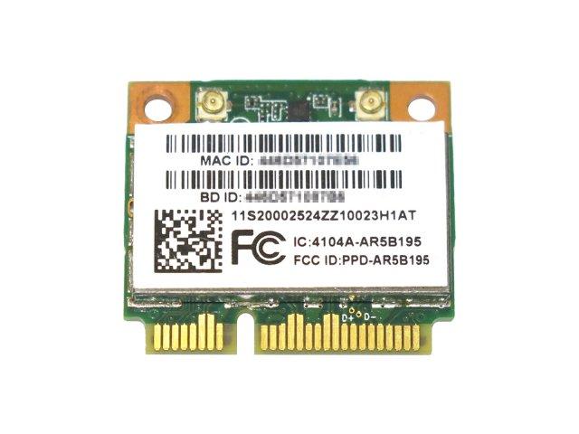 Lenovo 0002524 WLAN card, WiFi 1x1 BGN+Bluetooth3.0, AR5B195 WB195 無線LANカード