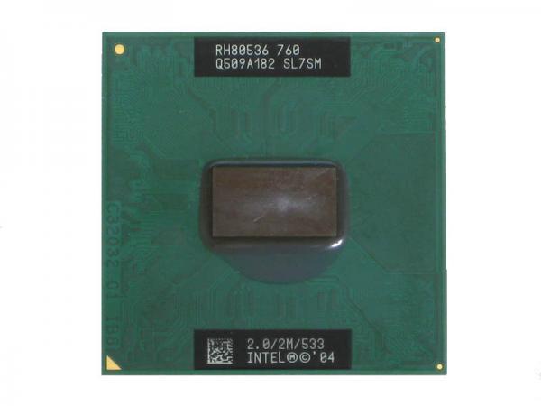 Intel Pentium M Processor 760 (2M Cache, 2.00A GHz, 533 MHz FSB) Socket478 SL7SM CPU