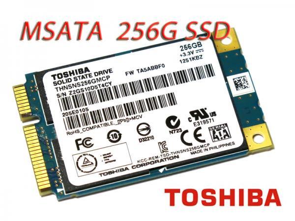 東芝TOSHIBA THNSNS256GMCP mSATA 6Gb/s対応 265GB SSDモジュール バルク品