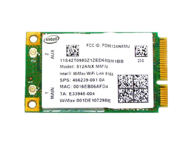 Lenovo純正 42T0981 Intel WiMAX/WiFi Link 5150 300Mbps 802.11a/b/g/n + Wimax 無線LANカード