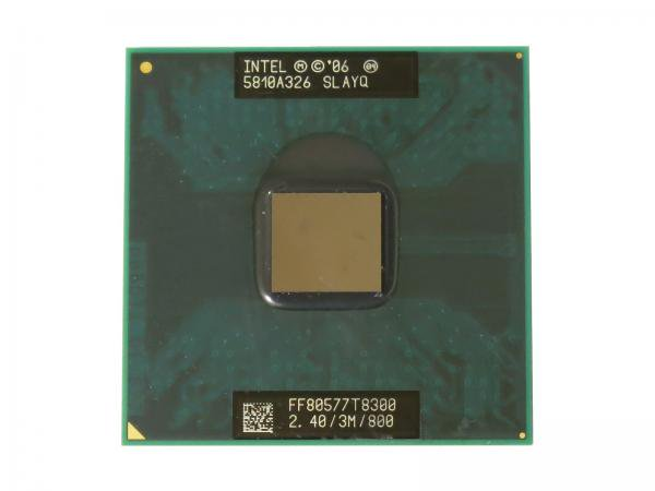 Intel Core2 Duo Processor T8300 SLAYQ CPU (3M Cache, 2.40 GHz, 800 MHz FSB) Socket478 中古バルク