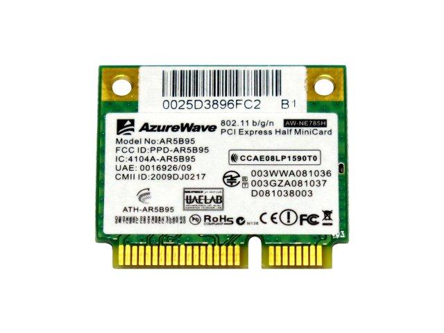 Atheros AR5B95 AR9285 シングルバンド 2 4GHz b/g/n 150Mbp PCIe mini half 無線LANカード