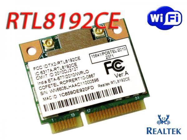 Realtek RTL8192CE 802.11b/g/n 2T2R 300Mbps miniPCI Express 無線LANカード