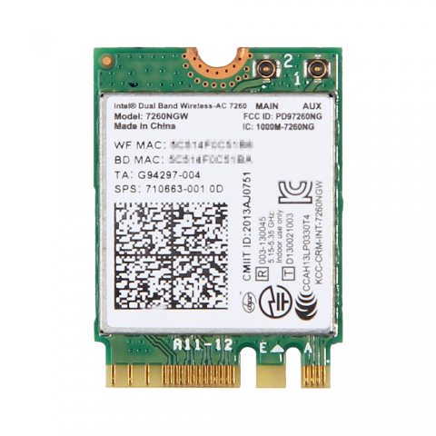 HP純正 710663-001 Intel Dual Band Wireless-AC 7260 867Mbps 802.11ac + Bluetooth 4.0 無線LANカード 7260NGW