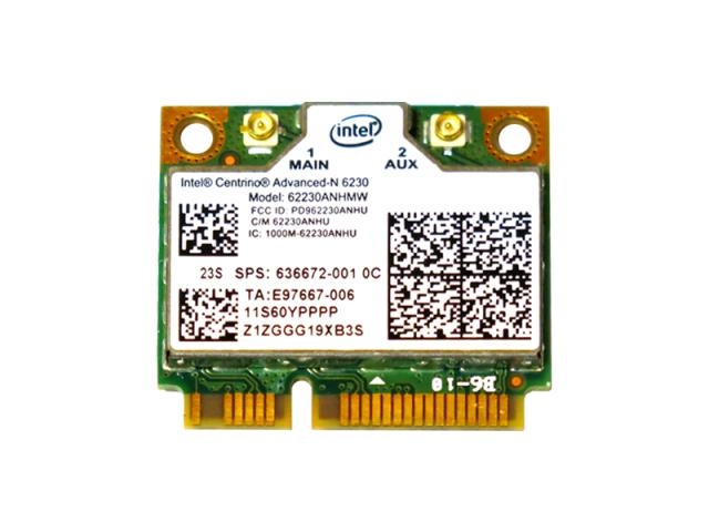 Lenovo/HP純正 60YFFFF 636672-001 Intel Centrino Advanced-N 6230 802.11a/b/g/n + BT3.0 無線LANカード