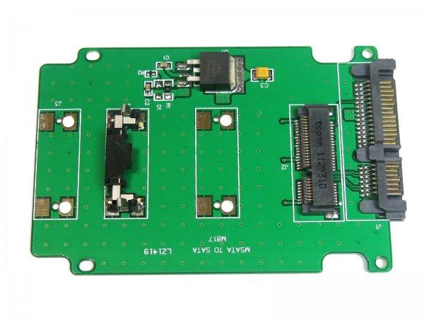 【相性保証付き】 mSATA (Mini SATA) SSD to 2.5インチ SATA 変換アダプター