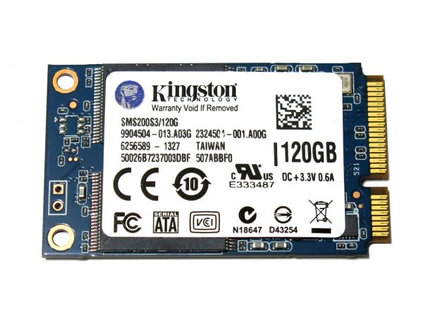 キングストン Kingston SSDNow mS200 Drive SMS200S3/120G mSATA 120G SSD 6Gb/s バルク