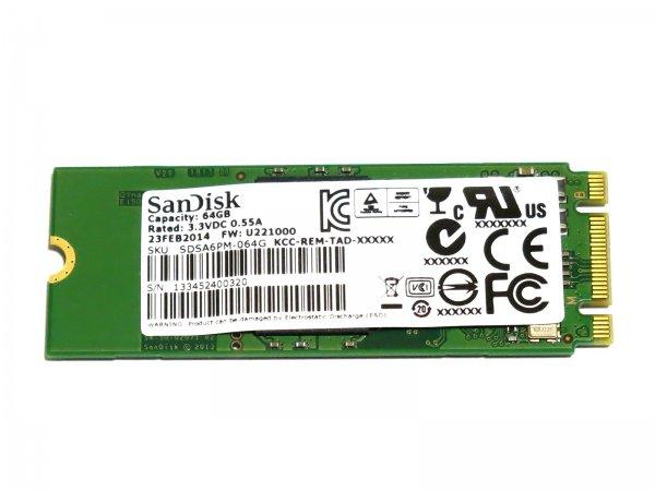 SanDisk U110シリーズ SDSA6PM-064G M.2 (NGFF 2260) SSD 64G SATA III 6Gb/s