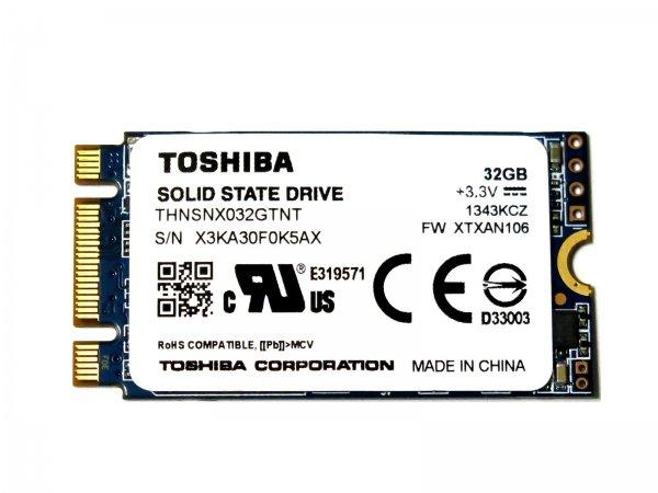 TOSHIBA THNSNX032GTNT M.2 (NGFF 2242) SSD 32G SATA III 6Gb/s